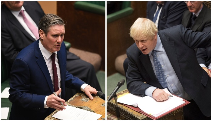 Keir Starmer and Boris Johnson