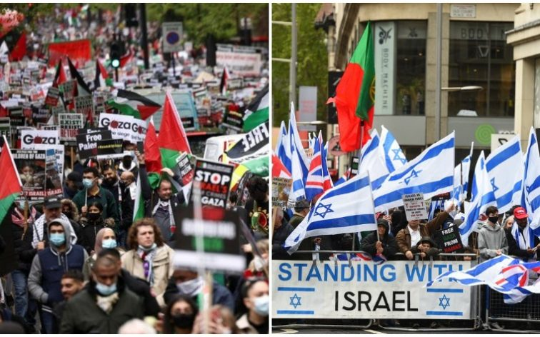 Palestine and Israel protests in London